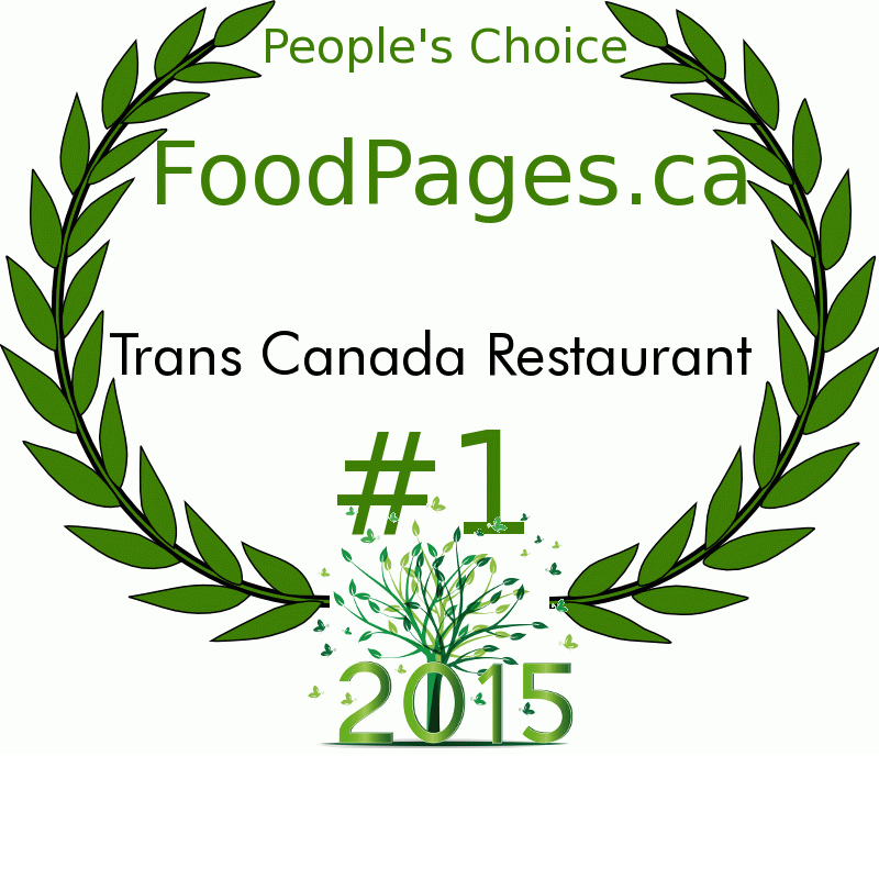 Trans Canada Restaurant FoodPages.ca 2015 Award Winner